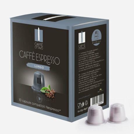 Lungo Nespresso kompatibilis kávé kapszula NESPRESSO kávéfőzőhöz Caffé Ottavo