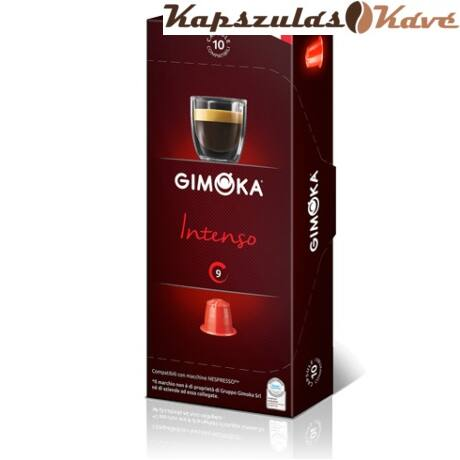 Gimoka Nespresso kapszula Intenso piros