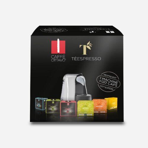 Espressina Nespresso kompatibilis kávégép (60 kávé + 60 tea kapszula) fekete