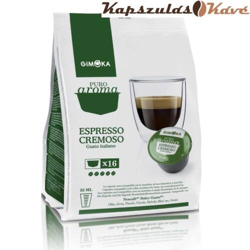 Gimoka Dolce Gusto kávékapszula Cremoso zöld