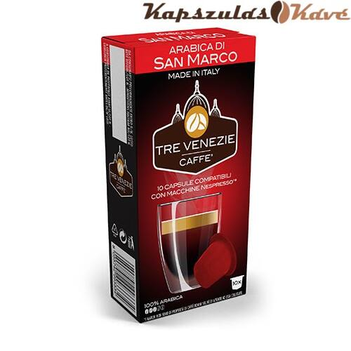 Nespresso kapszula Tre Venezie piros Arabica